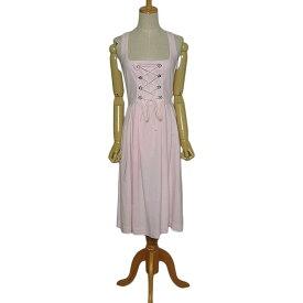 【中古】Distler チロルワンピース ピンク色 ディアンドル レディース サイズS位 ヨーロッパ 民族衣装 古着 処分【異国屋】