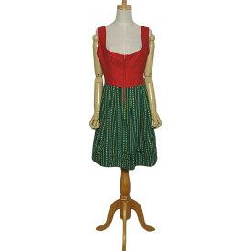 【中古】チロルワンピース ディアンドル ドレス レディース サイズL位 ハンドメイド 民族衣装 古着 ワンピース 【異国屋】