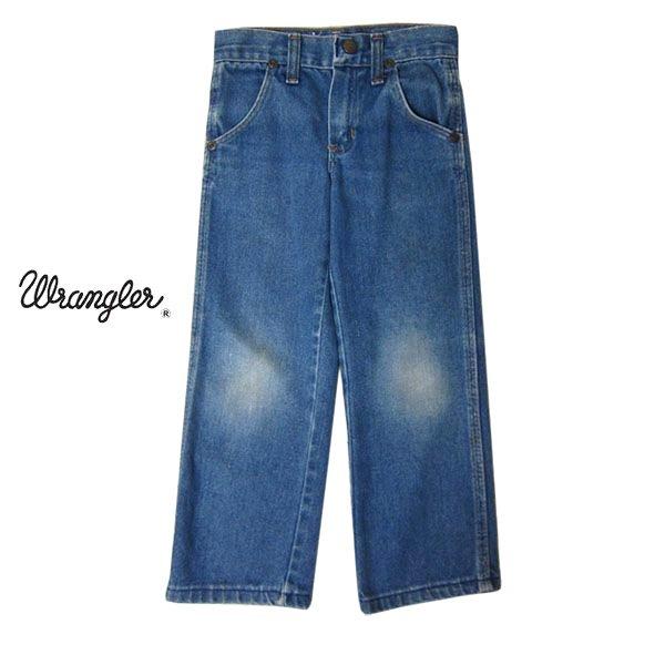 【中古】ラングラー Wrangler デニム パンツ ジーンズ キッズ100cm位 ジーパン 80's ビンテージ 古着 子供服