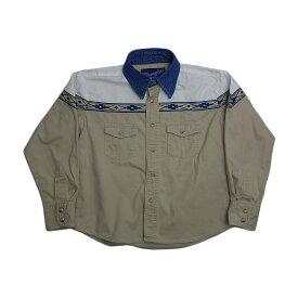 【中古】キッズ ウエスタンシャツ Wrangler ラングラー 80'sヴィンテージ 古着 子供服