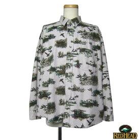 【中古】 USA製 REDHEAD ヘビーネルシャツ 大きいサイズ メンズXL 古着 BIG ハンティング柄 【異国屋】