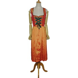 【中古】チロル ワンピース レディースM位 ヨーロッパ古着 民族衣装 ディアンドル