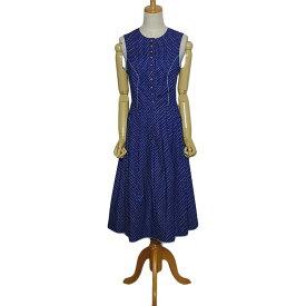 【中古】 小花柄 チロル ワンピース レディースM位 ヨーロッパ 民族衣装 ディアンドル 青 古着 【異国屋】
