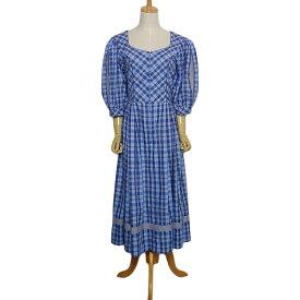 【中古】ISOLA チロル ワンピース チェック柄 レディースL位 ディアンドル オーストリア 民族衣装 古着