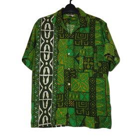 【中古】 1960年代 ヴィンテージ アロハ ハワイアン シャツ 半袖 メンズ Mサイズ位 古着 トップス ビンテージ 夏 リゾート服
