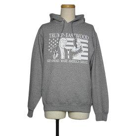 【新品】JERZEES プリント スウェット パーカー プルオーバー メンズ Sサイズ グレー 裏起毛 長袖 トレーナー トップス フード スエット hoodie
