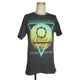 【中古】プリント Tシャツ EMPYRE SURPLUS CO. グレー メンズM 古着 ユーズド Tシャツ ティーシャツ