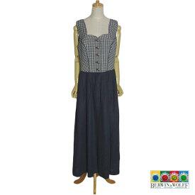 【中古】 BERWIN & WOLFF ディアンドル チロル ワンピース ドレス レディース XXL位 ヨーロッパ 民族衣装 古着 【異国屋】