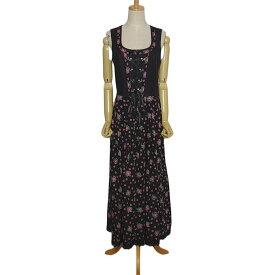 【中古】Alphorn 花柄 ディアンドル チロル ワンピース ドレス レディース Lサイズ位 ドイツ 民族衣装 古着 ノースリーブ オクトーバーフェスト