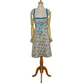 【中古】Spieth&Wensky 花柄 ディアンドル チロル ワンピース ドレス レディース Sサイズ位 ヨーロッパ古着 民族衣装