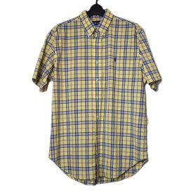 【中古】RALPH LAUREN ラルフローレン チェック柄シャツ 半袖 ボタンダウンシャツ メンズ Lサイズ 古着 シャツ 【異国屋】