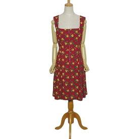 【中古】HOCK 花柄 ワンピース ディアンドル ドレス レディース Lサイズ位 民族衣装 古着 チロルワンピース【異国屋】