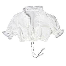 【中古】白 ホワイト ディアンドル インナー ブラウス チロル レディース Mサイズ位 ヨーロッパ 古着 民族衣装 半袖 クロップド 【異国屋】