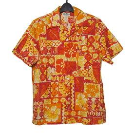 【中古】 ヴィンテージ アロハ ハワイアン シャツ 半袖 メンズ Mサイズ 古着 トップス ビンテージ 夏 リゾート服