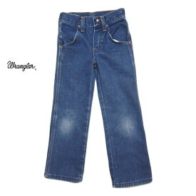 【中古】ラングラー Wrangler デニムパンツ キッズ4 slim 100cm位 アメリカ ジーンズ 子供服 【異国屋】