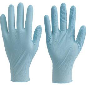 TRUSCO 使い捨て極薄手袋ニトリル製粉付きMブルー(100枚入)