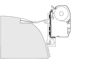F45またはF45Sシリーズ用 200系ハイエースブラケット(ワイドスーパーロング用) FIAMMA フィアマ オーニング取付アダプター キャンピングカー キャンピングトレーラー 車中泊