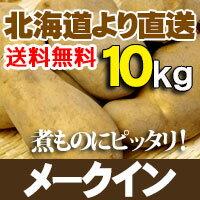 じゃがいも 北海道産 メークイン10kg贈り物 内祝 お返し ギフトあげいも フライドポテト等 おいもを使ったおやつに 送料無料 秋の味覚 バーベキュー BBQ
