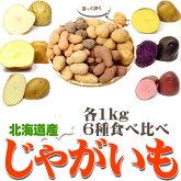 じゃがいも北海道産6種1kgずつ食べくらべセット合計6kg