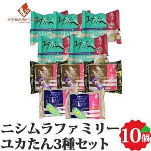 ユカたん 3種10個セット 送料無料 北海道産 銘菓 ニシムラファミリー お取り寄せ ご当地 グルメ 詰め合わせ 詰合せ 贈り物 ギフト 冷凍
