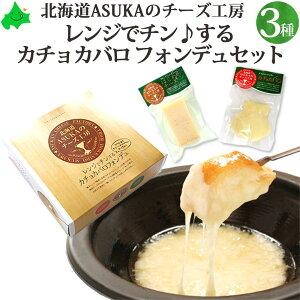 チーズ ギフト セット 北海道 【 カチョカバロ フォンデュ セット はじめのチーズ入り 】 ASUKAのチーズ工房 無添加 送料無料 チーズフォンデュ 贈り物 ナチュラルチーズ 北海道チーズ チーズ