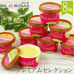 RE di ROMA plus ジェラート プレミアムセレクション 4種8個セット 北海道 札幌 カップジェラート アイスクリーム 送料込 ギフト セット お返し 贈物 贈り物 内祝 お取り寄せ ご当地 スイーツ お