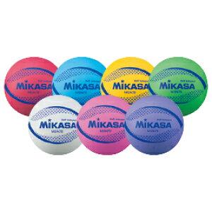 バレーボール カラーソフトバレーボール 赤 ミカサ