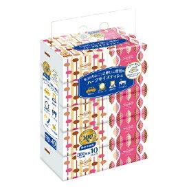 ハーフサイズ ティッシュペーパー サラサ ハーフサイズティシュ ユニバーサル・ペーパー 360枚×10パック
