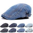 デニム ハンチング帽 帽子 コットン キャップ ステッチ 綿 ハンチング キャスケット メンズ レディース HUNTING CAP 7…