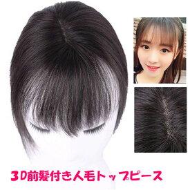 人毛100% 部分ウィッグ ヘアピース つむじ トップピース ストレート ミニサイズ 3D構造 前髪ウィッグ トップカバー 増毛部分かつら ウイッグ 付け毛 つけ毛 WIG MGH 017