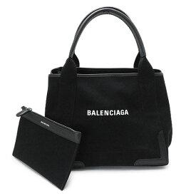 バレンシアガ トートバッグ 339933 AQ38N 1000 レディース ネイビー カバ Sサイズ キャンバス ブラック 黒 BALENCIAGA NAVY CABAS S BLACK