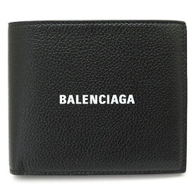 バレンシアガ 折財布 594315 1IZI3 1090/BLACK/L WHITE メンズ 財布 二つ折り レザー ブラック 黒 BALENCIAGA