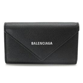 バレンシアガ キーケース 499204 DLQ0N 1000 キーリング 6連フック ペーパー レザー ブラック 黒 BALENCIAGA PAPIER 【2021年秋冬新作】