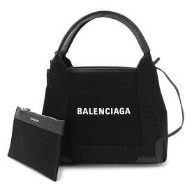 バレンシアガ ハンドバッグ 390346 AQ38N 1000 レディース 2WAY バッグ ショルダーバッグ キャンバス ブラック 黒 BALENCIAGA NAVY CABAS XS BLACK XSサイズ