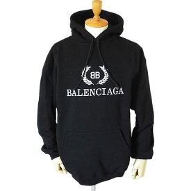 バレンシアガ フーディー メンズ BBロゴ 556143 TDV52 1000 スウェット BALENCIAGA パーカー ノアール ブラック
