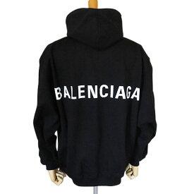 バレンシアガ フーディーメンズ ロゴ 556143 TAV37 1000 スウェット BALENCIAGA パーカー ノアール ブラック