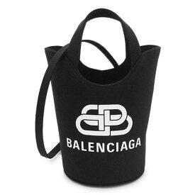 バレンシアガ トートバッグ レディース 619979 2HH13 1090 ショルダーバッグ バケットバッグ ウエーブ XSサイズ ブラック 黒 BALENCIAGA WAVE TOTE XS 【2021年秋冬新作】