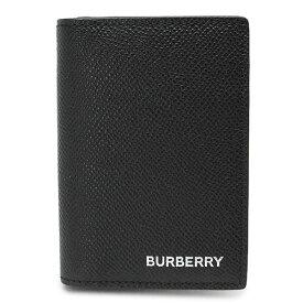 バーバリー カードケース メンズ 8014669 A1189 名刺入れ レザー ブラック 黒 BURBERRY FLINT BUSINESS