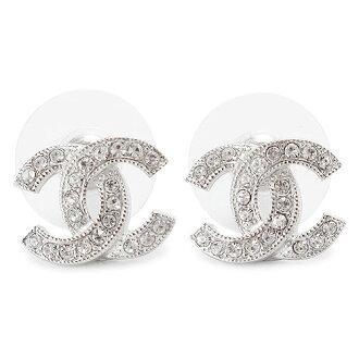 香奈儿耳环香奈儿配件 CC 可可使钻银/清除 A88429 Y02003 Z3502