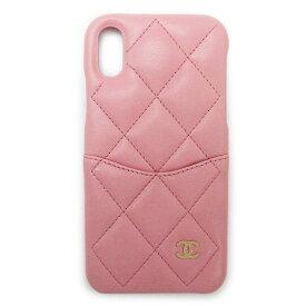 【訳あり】シャネル iPhoneケース スマホケース A83565 スマホカバー iPhone X/XS ラムスキン キルティング レザー CHANEL ピンク