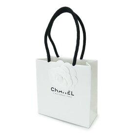 CHANEL シャネル 紙袋 正規店 ペーパーバッグ ショッパー 白 カメリア付き 14×14×6cm【ブランド付属品】【紙袋】