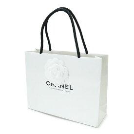 CHANEL シャネル 紙袋 正規店 ペーパーバッグ ショッパー カメリア付き 白 22×17×7cm【ブランド付属品】【紙袋】
