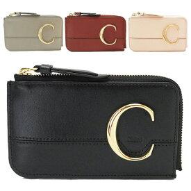 クロエ スモールパース CHC19UP059A37 カードケース 小銭入れ コインケース Chloe C レザー クロエC クロエシー