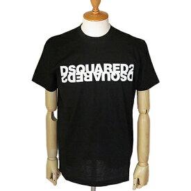 ディースクエアード ロゴ Tシャツ S74G GD0635 S22427 900/NERO メンズ DSQUARED2 Mirrored Logo T-Shirt トップス 半袖 【07pt05】