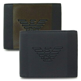エンポリオ アルマーニ 折財布 メンズ Y4R165 YFE6J 財布 二つ折り財布 イーグルロゴ バイカラー EMPORIO ARMANI