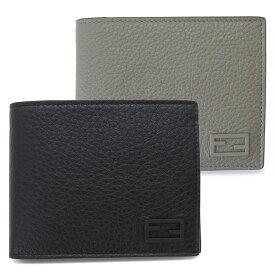 フェンディ 折財布 メンズ 7M0001 AG0L 二つ折り財布 FFロゴ レザー FENDI COIN WALLET 【2021年秋冬新作】