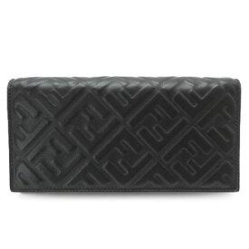 フェンディ 長財布 メンズ 7M0264 A72V F0GXN 二つ折り財布 コンチネンタル財布 FFロゴ レザー ブラック 黒 FENDI CONTINENTAL