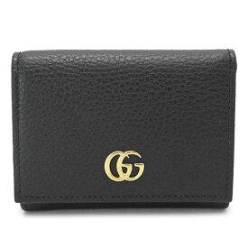 グッチ 折財布 レディース 474746 CAO0G 1000 三つ折り財布 プチマーモント レザー ブラック 黒 GUCCI PETITE MARMONT
