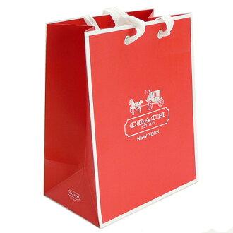 教练教练零售店纸包 / 袋 / 购物 19.7 x 24.8 x 12 厘米红色 (斜挎包、 钱包、 护腕邮袋友好) 及配件和袋