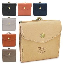 イルビゾンテ 折財布 C0423P 財布 二つ折り財布 がま口財布 Wホック レザー IL BISONTE